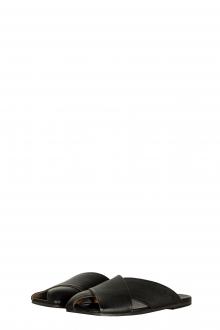 Marsèll Damen Leder Slipper mit Riemen schwarz