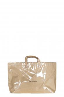 Comme Des Garçons Handtasche mit Logo-Print beige