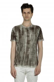 AVANT TOI Herren Leinen T-Shirt mit gebürstetem Effekt mehrfarbig