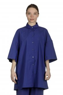 Katharina Hovman Damen Oversized Hemdbluse blau
