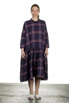 Apuntob Damen Avantgarde Hemdblusenkleid mit Karomuster mehrfarbig