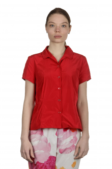 Katharina Hovman Damen Bluse mit Umlegekragen rot