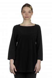 Katharina Hovman Damen Shirt in A-Linie mit 3/4 Arm schwarz