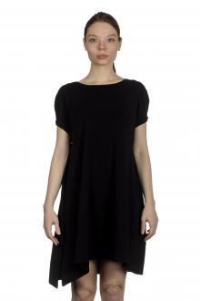 Sarah Pacini Damen Strickkleid mit Schlitz schwarz