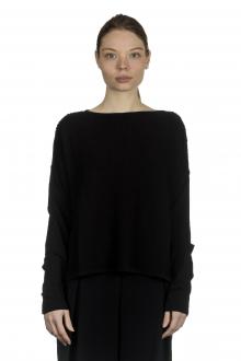 Sarah Pacini Damen Pullover mit strukturiertem Muster schwarz