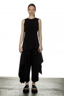 Yohji Yamamoto Damen Asymmetrische Weste mit Drapierung schwarz