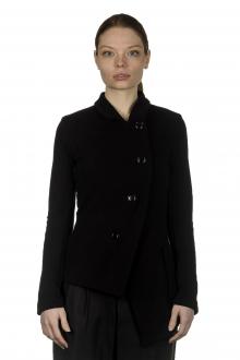 Y's Yohji Yamamoto Damen Asymmetrischer Blazer mit Umlegekragen schwarz
