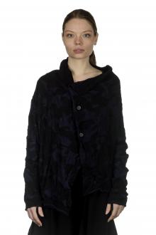 Y's Yohji Yamamoto Damen Asymmetrischer Cardigan im Camouflage-Look schwarz blau