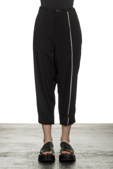 Y's Yohji Yamamoto Damen 7/8 Hose mit Verzierung schwarz