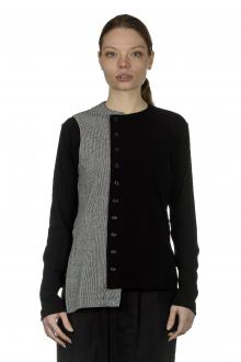 Y's Yohji Yamamoto Damen Asymmetrische Kurzjacke mit Patchwork schwarz