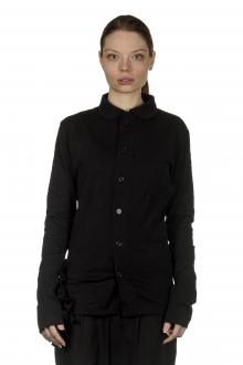 Y's Yohji Yamamoto Damen Asymmetrische Bluse mit Drapierung schwarz