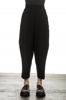 Y's Yohji Yamamoto Damen 7/8 Hose mit elastischem Bund schwarz