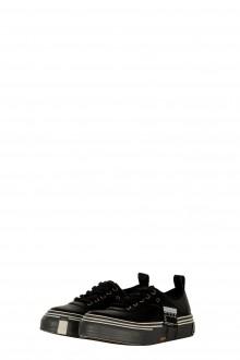 Yohji Yamamoto Damen Leder Sneaker schwarz