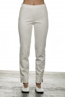 Seductive Damen 7/8 Hose 'SABRINA' mit elastischem Bund weiß