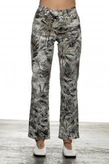 Seductive Damen 7/8 Denim Hose 'CLAIRE KICK' mit Print mehrfarbig