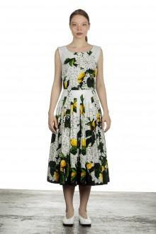 SAMANTHA SUNG Damen Sommerkleid FLORANCE weiß Print