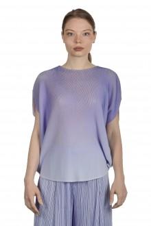 Pleats Please Issey Miyake Damen Plissé Ombré-Bluse violett