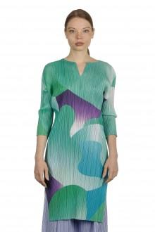 Pleats Please Issey Miyake Kleid in Colour-Block-Optik mehrfarbig