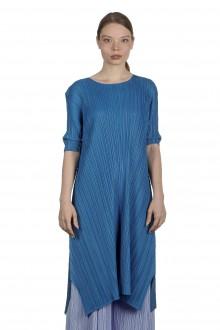 Pleats Please Issey Miyake Plissé Kleid in Midi-Länge blau