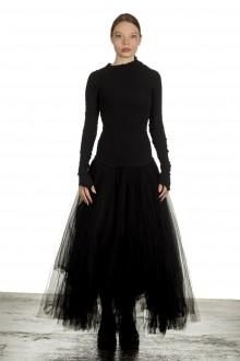 Marc Le Bihan Damen Asymmetrisches Kleid schwarz