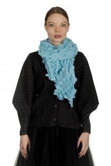 ISSEY MIYAKE PLEATS PLEASE Strukturierter Schal blau