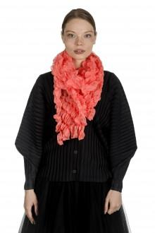 ISSEY MIYAKE PLEATS PLEASE Strukturierter Schal rosa