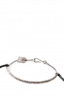 GOTI Silber Armband BR1116 mit Leder schwarz silber