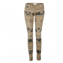 Current Elliott THE ANKLE SKINNY vintage tribal destroy