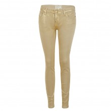 Current Elliott THE ANKLE SKINNY metallic gold