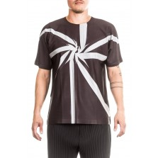 ISSEY MIYAKE Herren T-Shirt WRINKLE T schwarz
