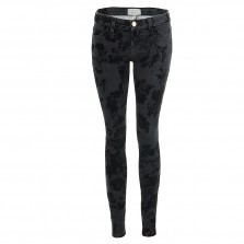 Current Elliott THE ANKLE SKINNY black velvet