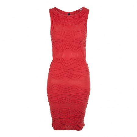 HIGH Jersey Kleid Multitude rot