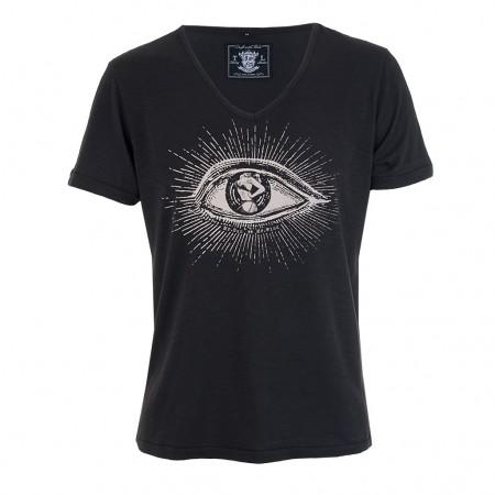 Tee Library T-Shirt WIND AND SUN schwarz