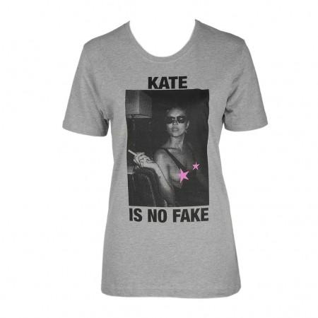 Dont Believe The Hype Unisex-Shirt KATE grau