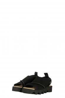 Issey Miyake x United Nude Damen Sandale schwarz