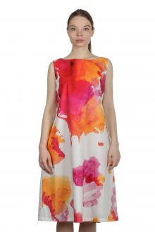 Katharina Hovman Damen A-Linien Kleid mit Print mehrfarbig