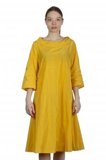 Katharina Hovman Damen Kleid in A-Linie gelb