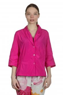 Katharina Hovman Damen Taft Bluse mit Schalkragen pink