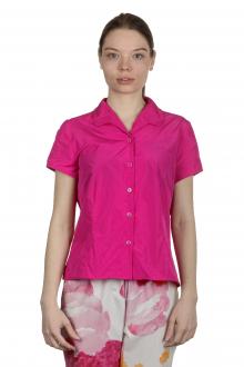 Katharina Hovman Damen Bluse mit Umlegekragen pink