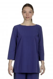 Katharina Hovman Damen Shirt in A-Linie mit 3/4 Arm blau