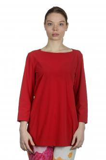Katharina Hovman Damen Shirt in A-Linie mit 3/4 Arm rot