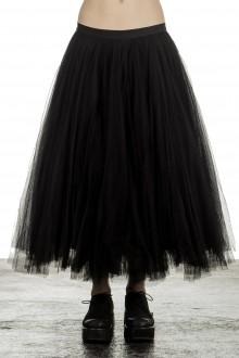 Marc Le Bihan Damen Rock mit Tüll-Overlay schwarz