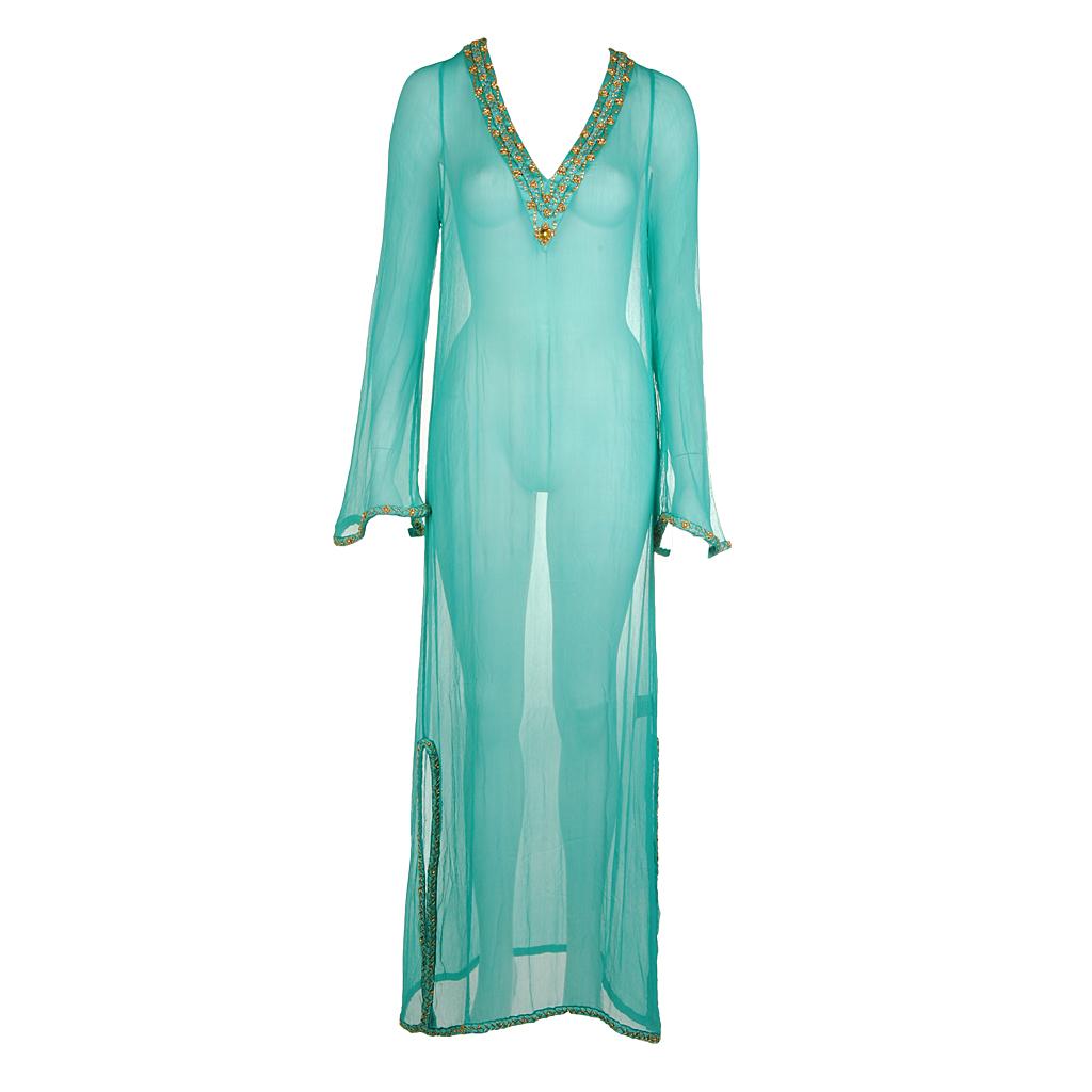 Shivadiva Seiden Kleid türkis