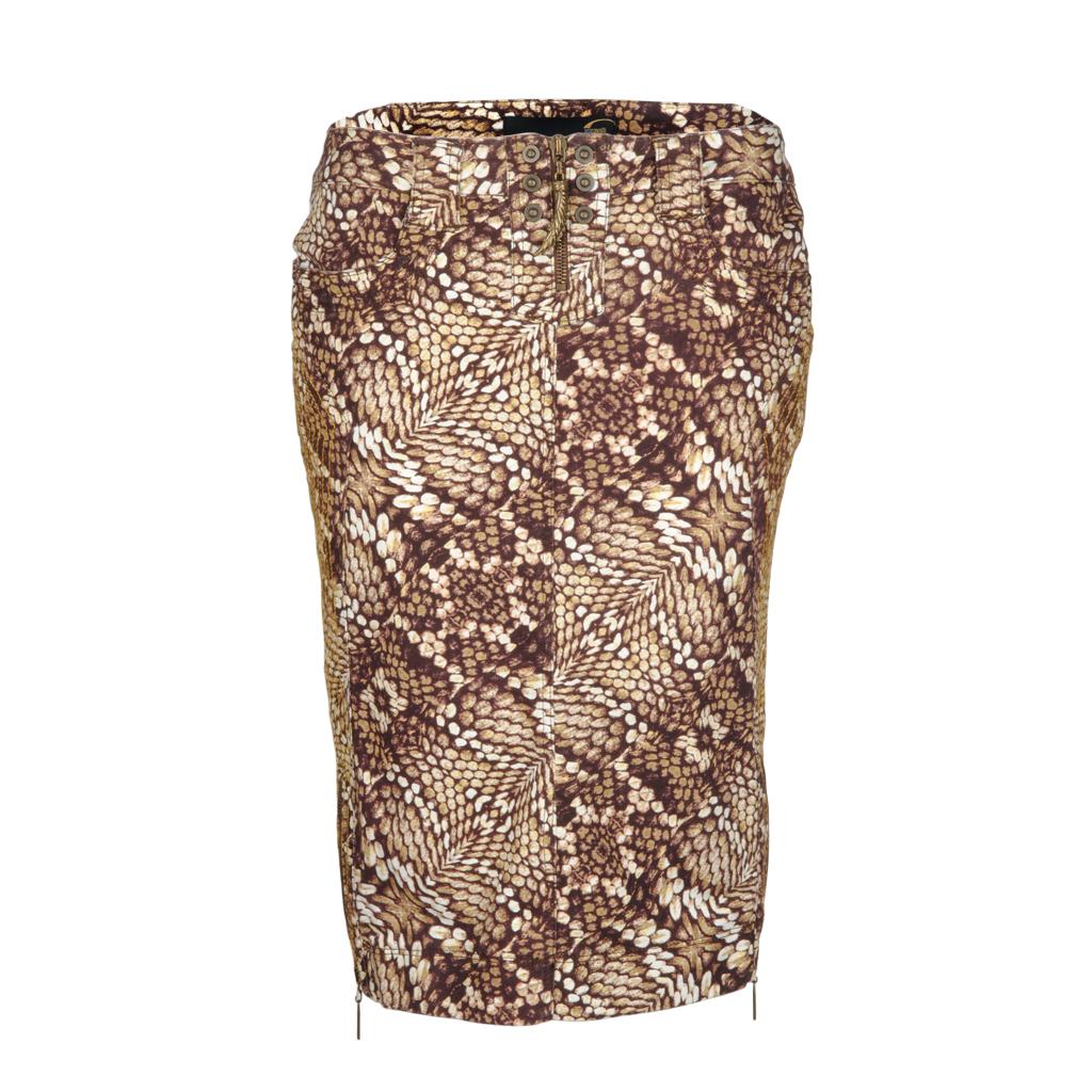 Roecke - Just Cavalli Damen Rock Snake braun  - Onlineshop Luxury Loft