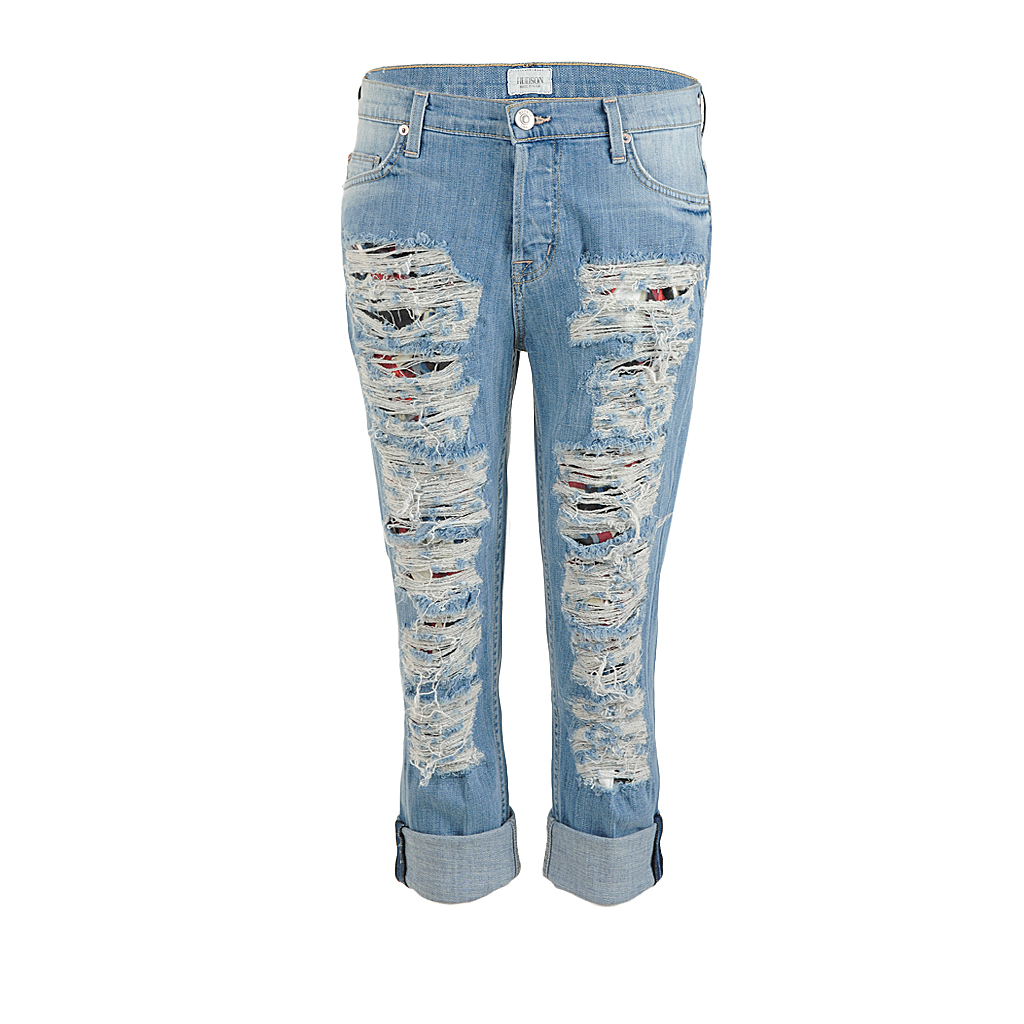 Hosen - Hudson Boyfriend Jeans CROP DAX blue used  - Onlineshop Luxury Loft