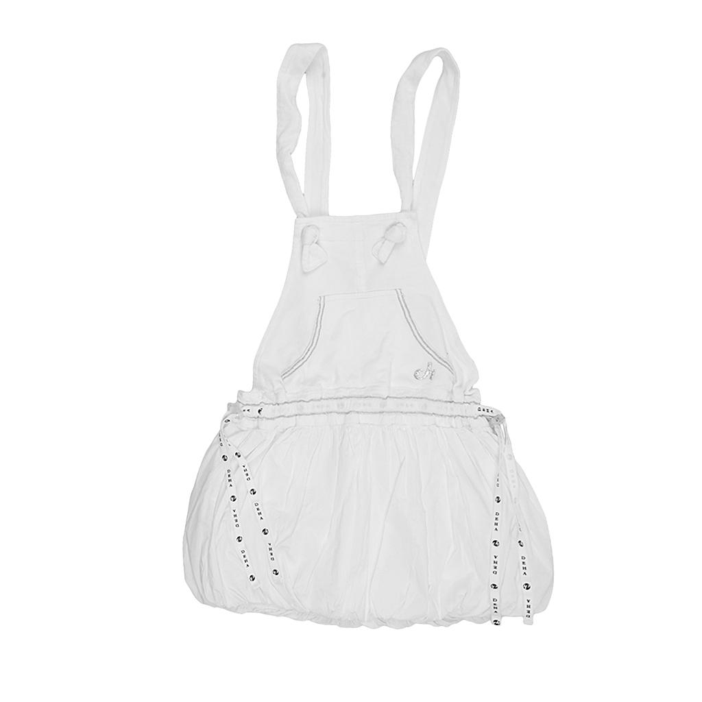 Roecke für Frauen - Deha Traegerrock Kids F57320 weiss Gr. M  - Onlineshop Luxury Loft