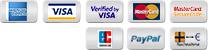 American Express, VISA, Mastercard, PayPal, Überweisung, Nachname